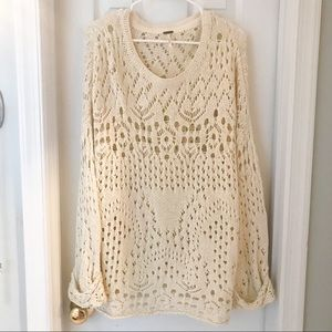 Free People 🌟 Chunky Sweater, Cream Colored